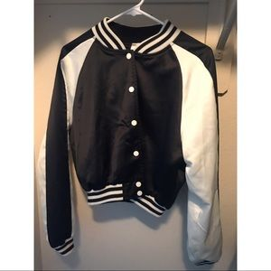 Forever 21 Basketball Jacket Sz L